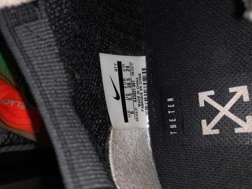 nike air vapormax off white og - size us 6 / uk 5 usado