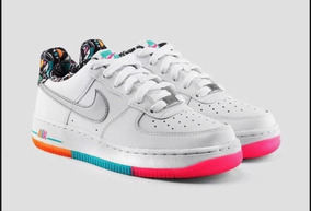 Nike Airforce1 Suela Colores Rainbow