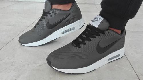 nike airmax gris con negro
