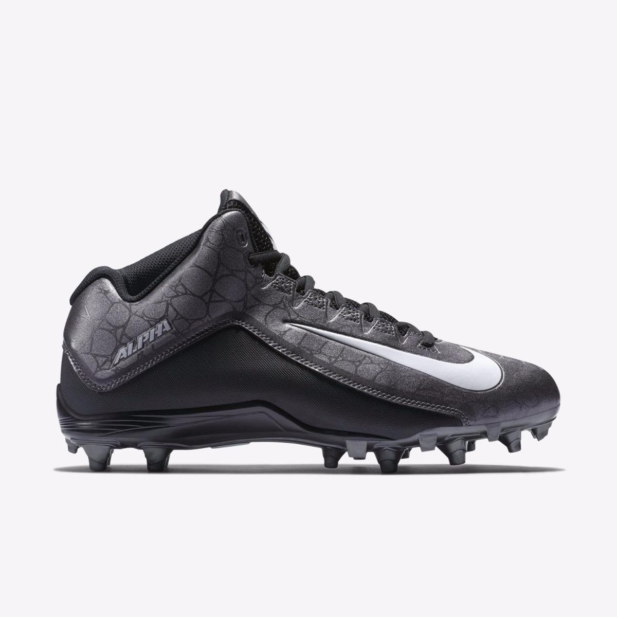 c45e29aaaed8b Nike Alpha Pro Td Tachones Fut Americano Negro gris Original ...