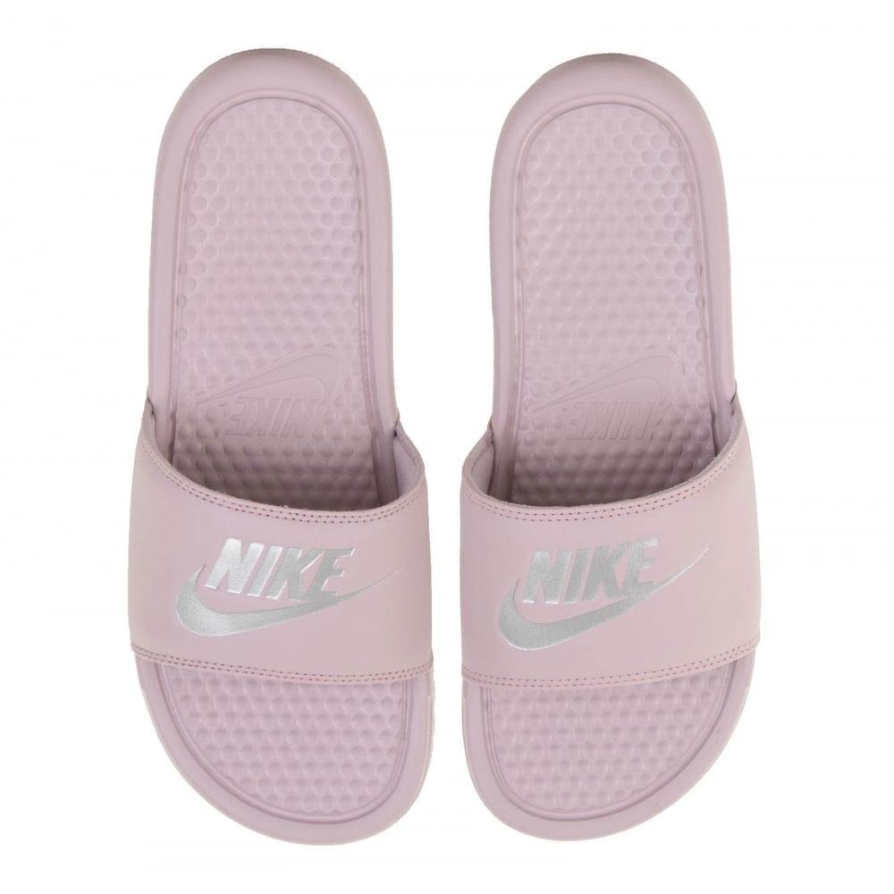 Nike Benassi Jdi Print Mujer - Rosa