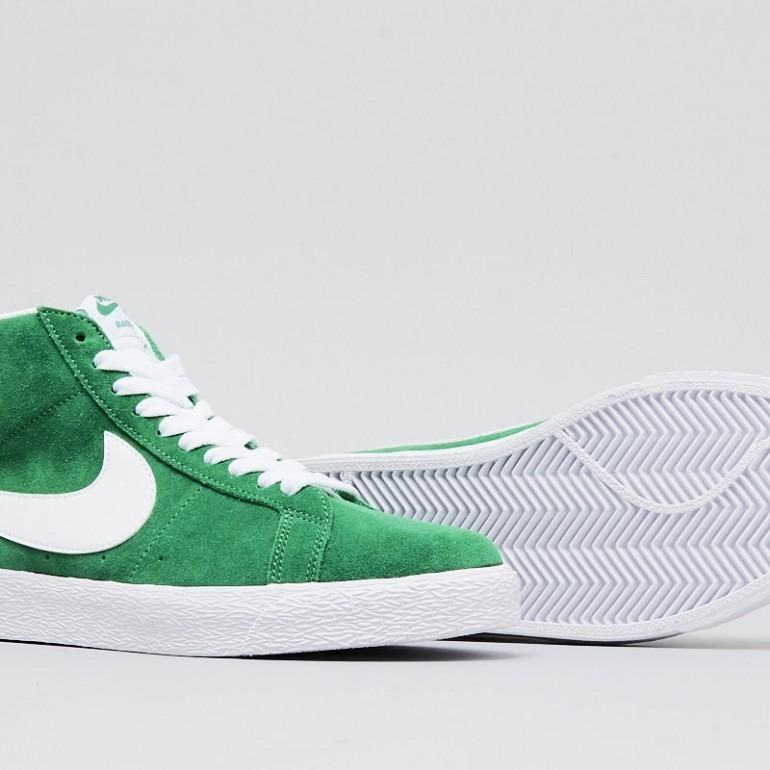 Zapatillas Nike Sb Zoom Blazer Mid Botitas Gamuza Verde -   3.299 739d4c7e0c7e4