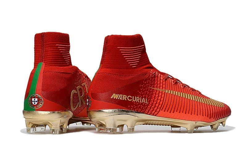 Chuteira Nike Mercurial Superfly V Cr7 Portugal Fg - Campo - R  349 ... a03c10994ed80
