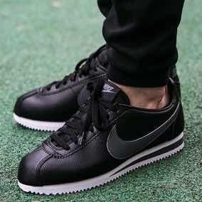 Nike Cortez Negras (cuero ) Hombre Originales Y Nuevas