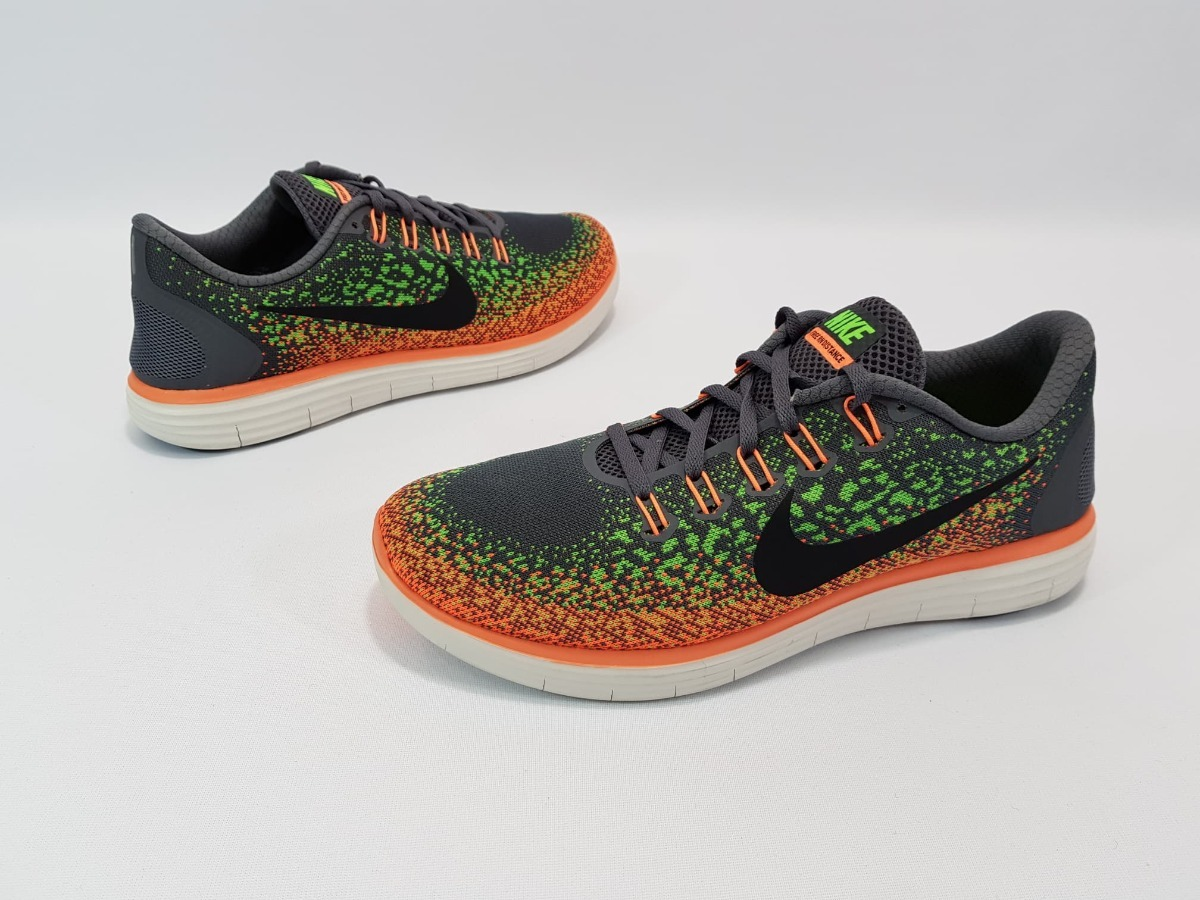 meilleures baskets 259b8 fd35c Nike Free Run Distance Gris Naranja Numeros 28, 28.5 Y 29 Mx