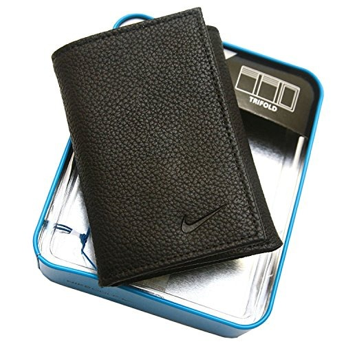 95abf28fd Nike Golf Mens Cuero Genuino Pebble Trifold Wallet Negro ...