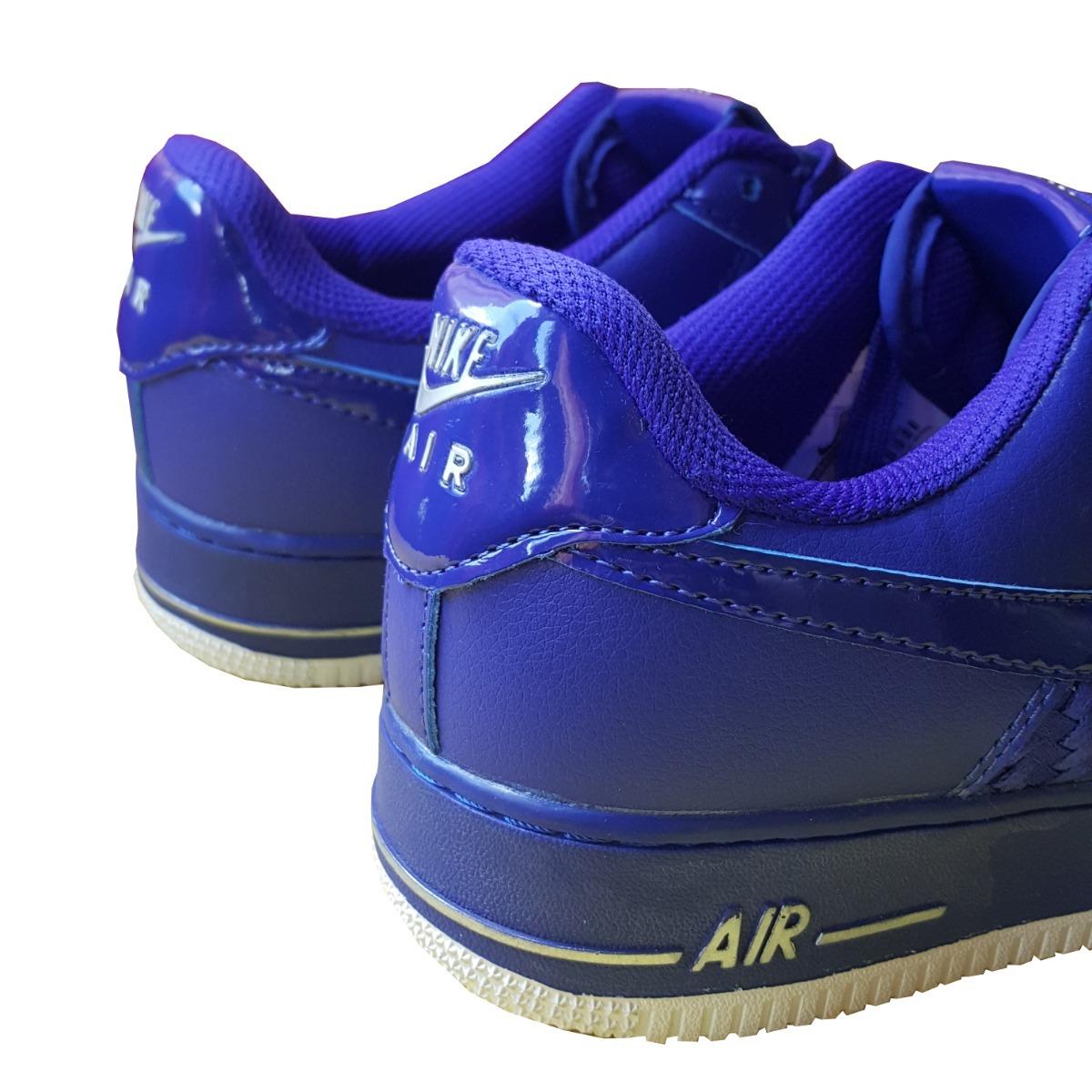 a0c1e049d2 Cargando zoom... zapatillas nike airforce 1 azul 2018 hombre premium