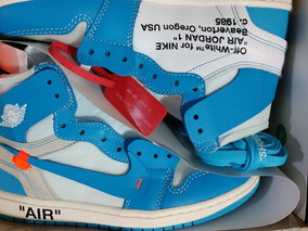 promo code b446d 0f608 Nike Jordan 1 Retro X Off White Unc Nba 2019 La Mejor