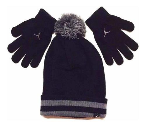 nike jordan boys invierno cuffed beanie & guantes set tam