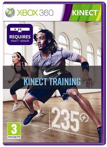 nike + kinect training xbox 360 mídia física lacrado