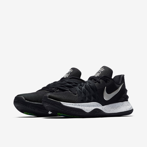 nike kyrie 4 low black metallic silver 100% original 2019