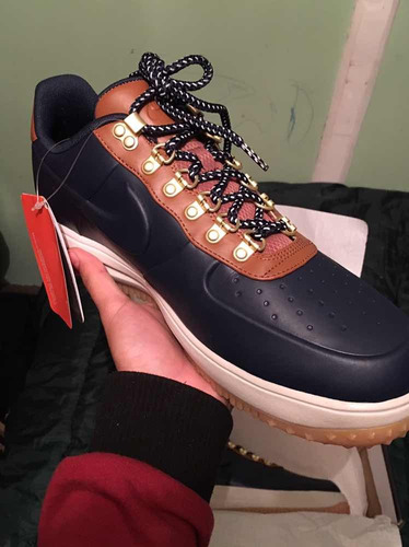 nike lunar force 1 duckboot 11 us ,low obsidian/saddle brown