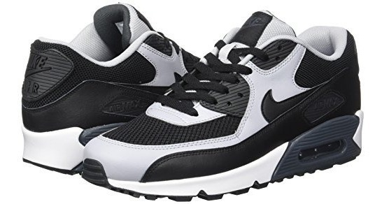 Nike Mens Air Max 90 Essential Negro Negro Wolf Gray A