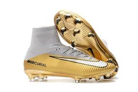 34f1523bce5c3 Chuteira Nike Mercurial Dourada - Esportes e Fitness no Mercado Livre Brasil