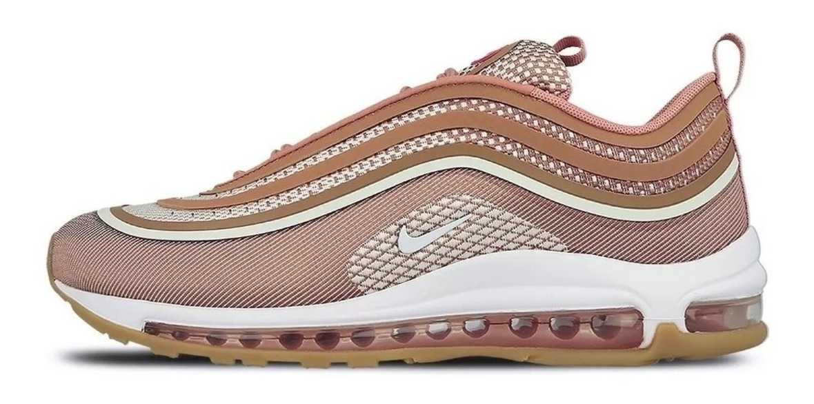 nike air max 97 ultra '17 pink metallic gold - mujer