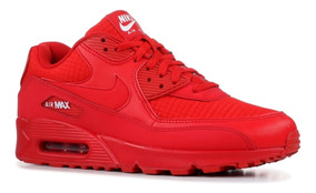 moda 2069 Nike Air Max 90 Essential Negro And Rojo Hombres