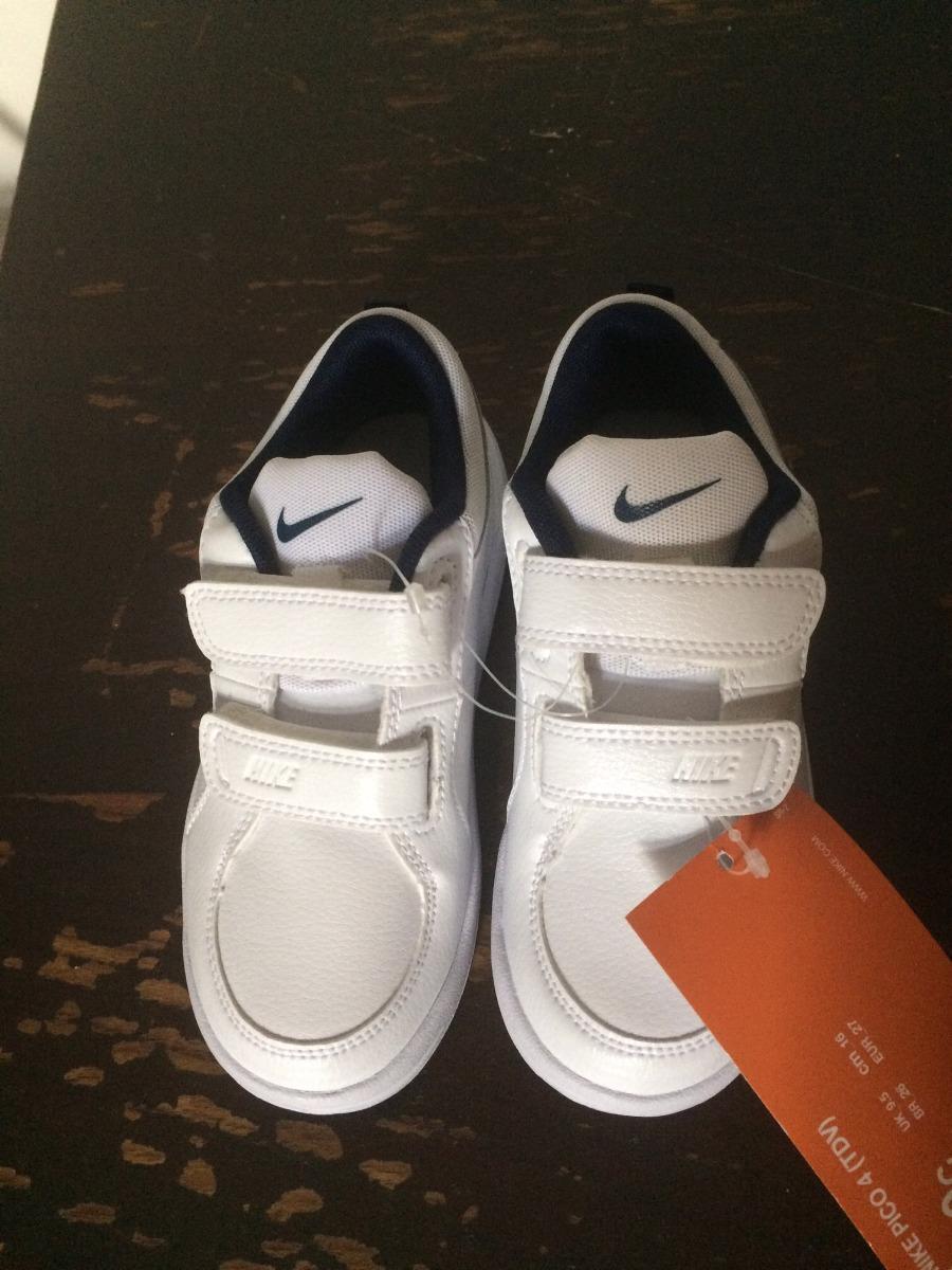020011b93 Zapatillas Nike Nene Niño Blancas 27 Nuevas Sin Uso -   1.100