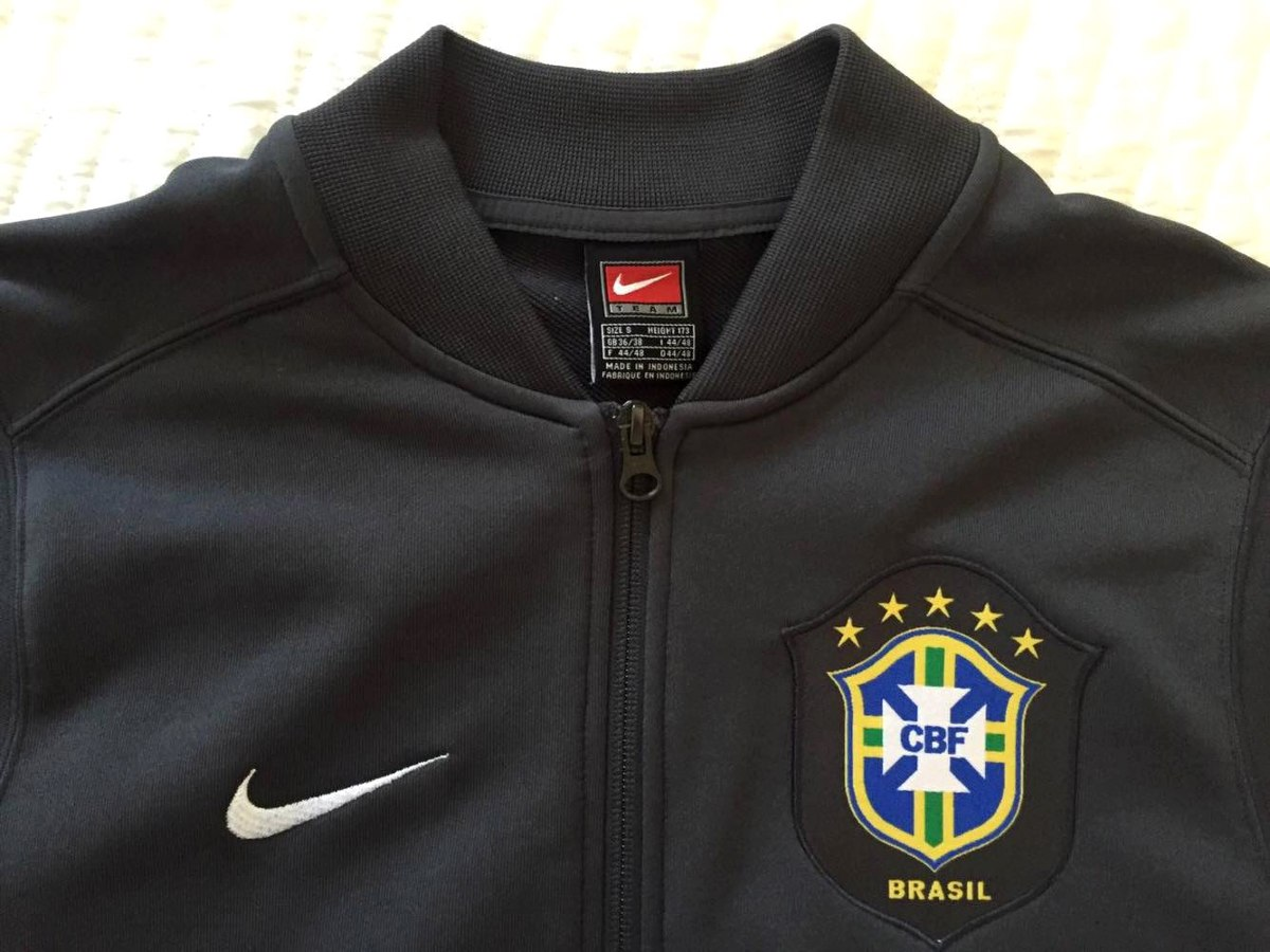 Jaqueta Oficial Nike Da Seleção Brasileira Agasalho Seleção - R  149 ... d36cf00901f0f