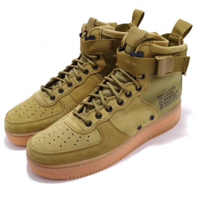 b6e33b0393a Nike Sf Air Force 1 Mid Desert Moss Hombre 917753-301 Botita ...