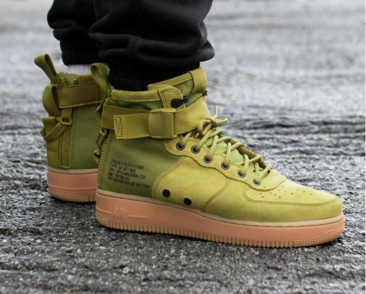 Nike Sf Air Force 1 1 Force Mid Desert Moss Hombre   5.699,00 en Mercado   f69003