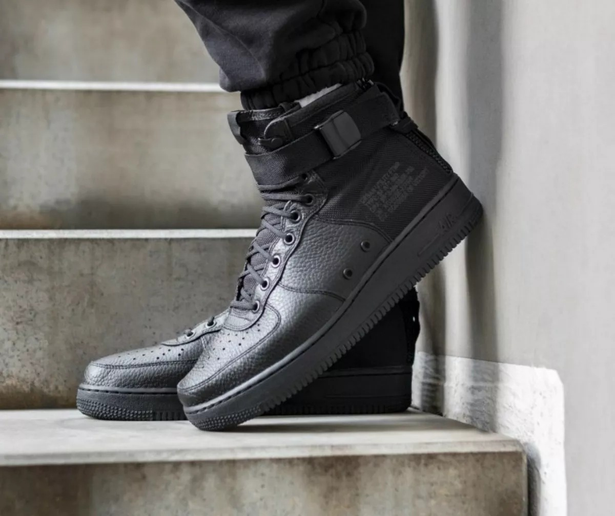 Nike Air Force 1 Mid Black black Black | Deportivas Hombre