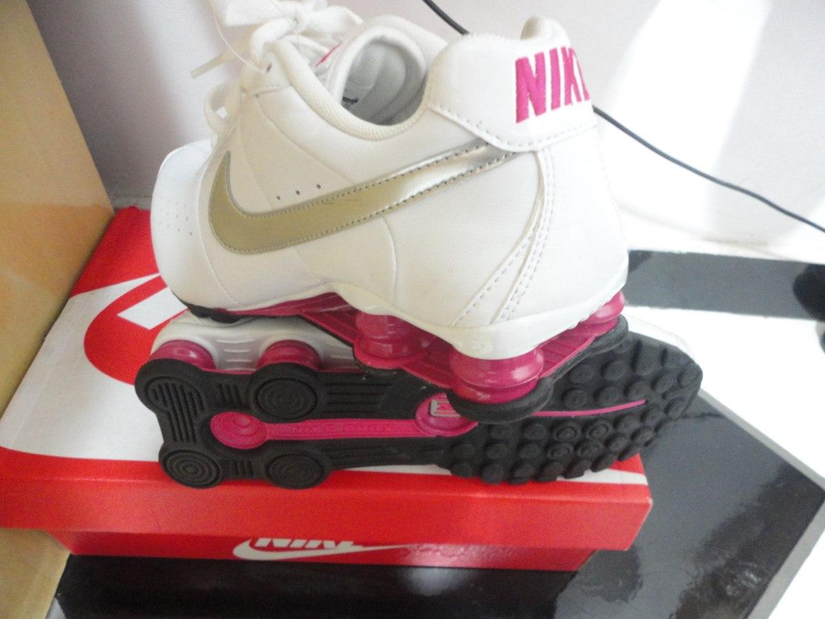 new style e4e1c 7ec9e nike shox classic ii feminino branco rosa 100%original. Carregando zoom.