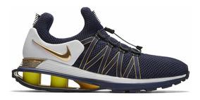 Nike Shox Gravity Azul Dorado Original 8.5 Us 42 Eur