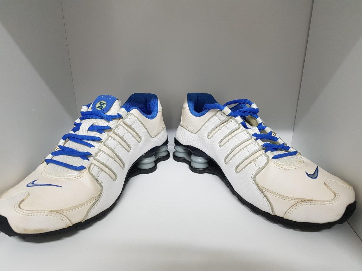 874774ff373 shop nike shox nz 4 molas branco e azul. original e super novo. carregando