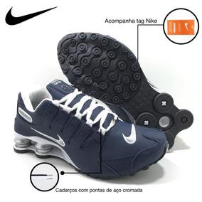 17c88884e1f Nike Shox Feminino R4 Azul Marinho - Tênis no Mercado Livre Brasil