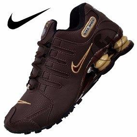 3808f06fb27 Nike Shox Nz Masculino Marrom Original Frete Gratis - R  424