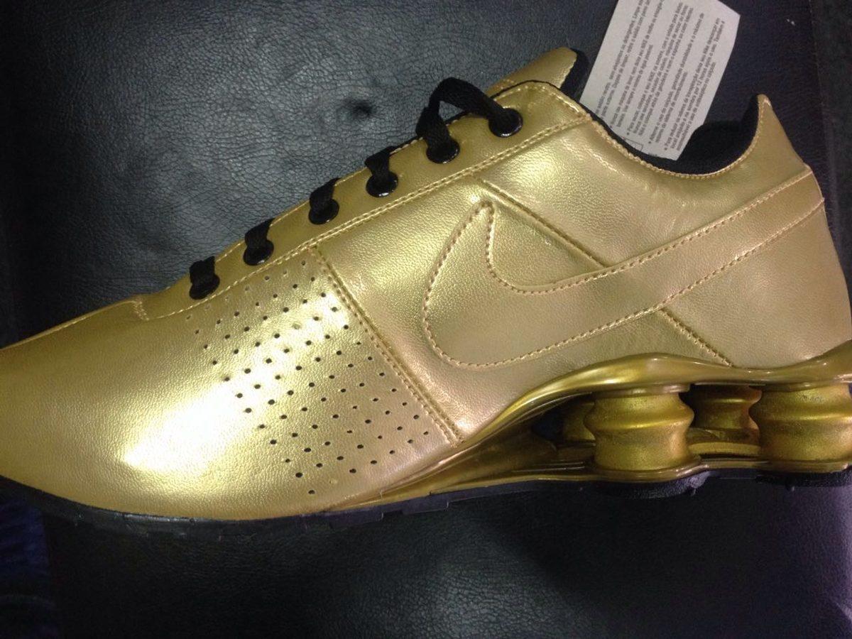 official photos ad714 6305a ... classic branco e dourado online e barato  nike shox tênis .
