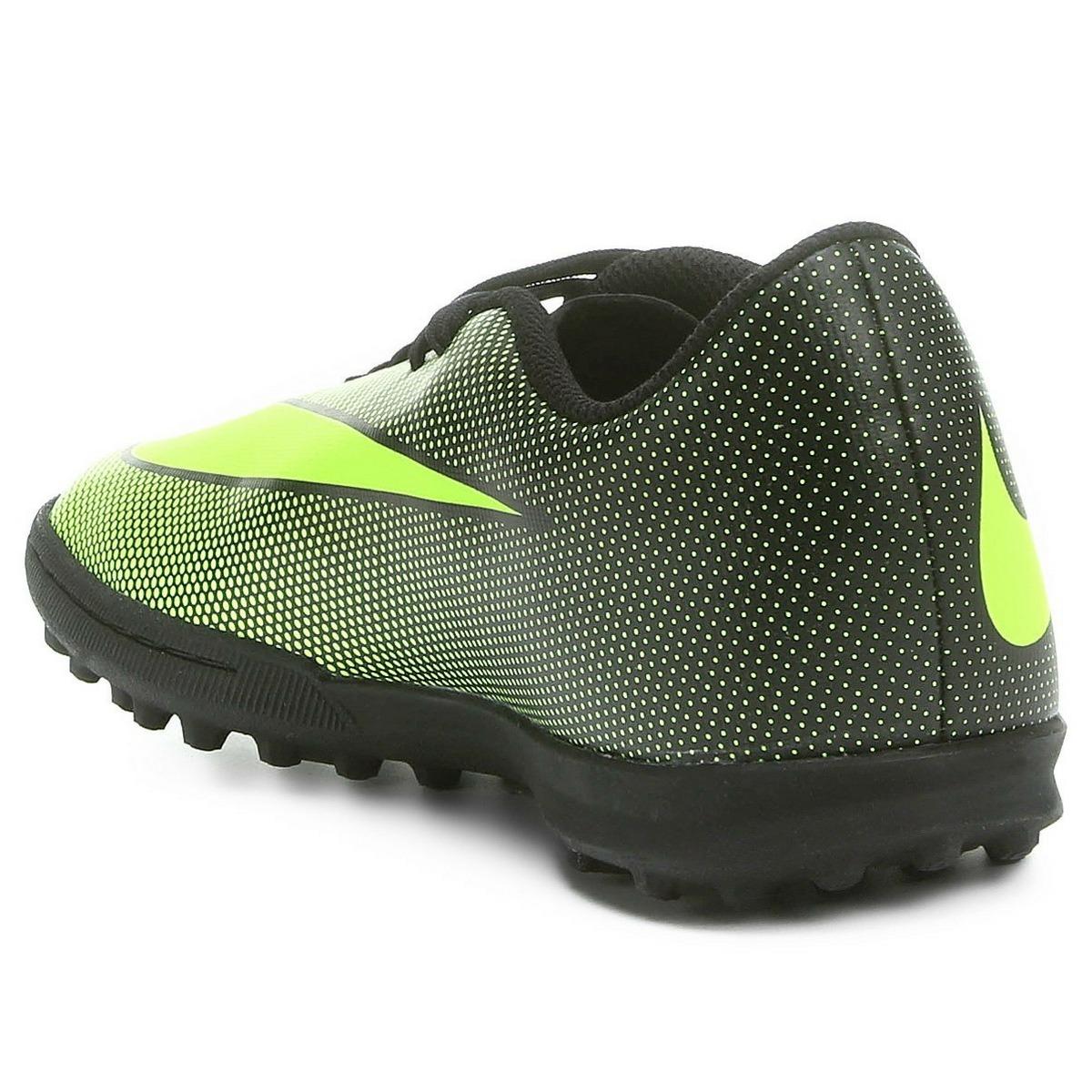 Chuteira Nike Society Bravata 2 Tf Masculina - Preto E Verde - R ... b299943531856