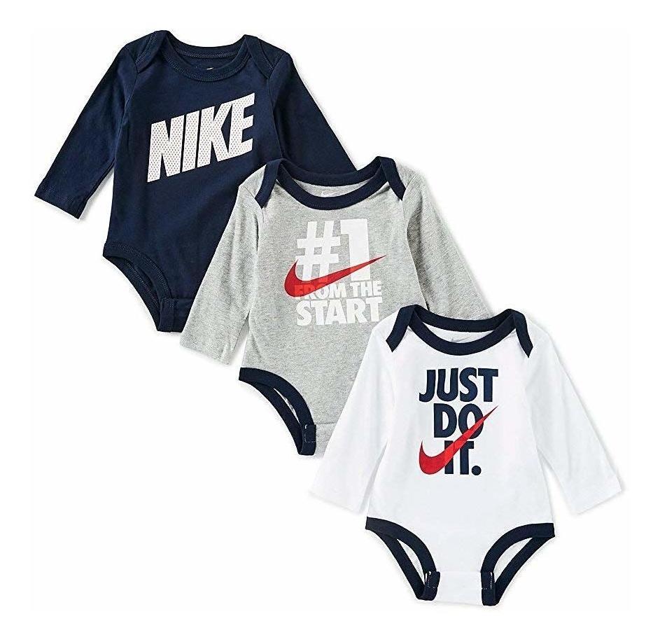 Clothing Baby Nike Swoosh Three-Piece Infant Baby Bodysuit Set