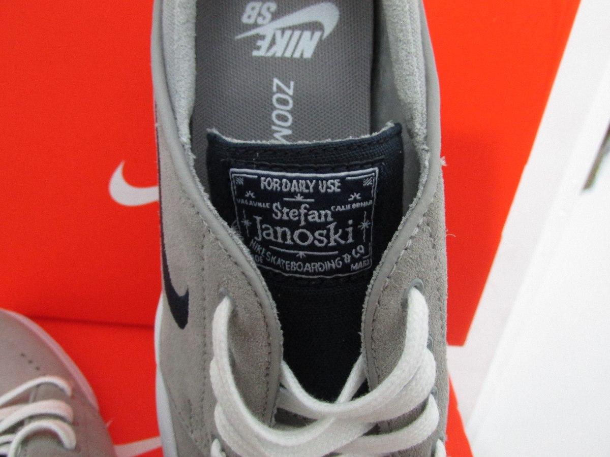 9e67f7e145165 Nike Tenis Stefan Janoski Zoom Skate Cinza Claro Mqfshop - R  312