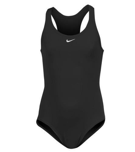 7d9c4b271f5c Nike Traje De Baño Negro De Niña Para Natacion Talla 14