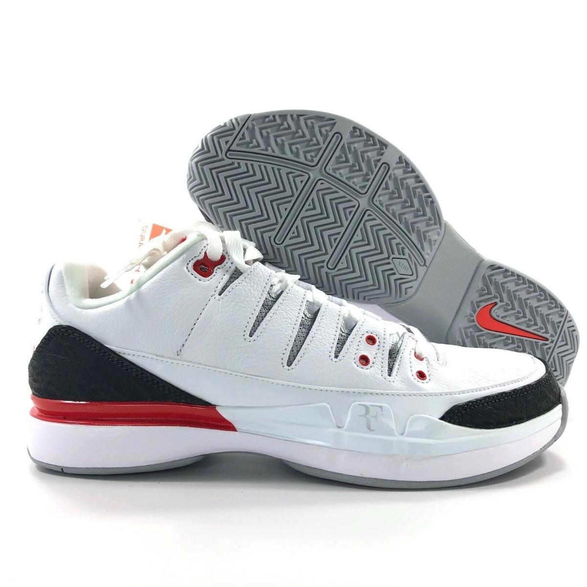 more photos db474 7fbd0 Nike Vapor Zoom Jordan Retro 3 Fire Red Roger Federer