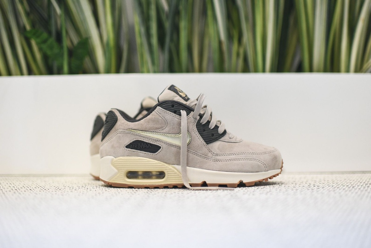 outlet store d814a 056a7 nike wmns air max 90 prm suede string gold grain. Cargando zoom.
