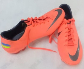 zapatos de futbol nike anaranjados