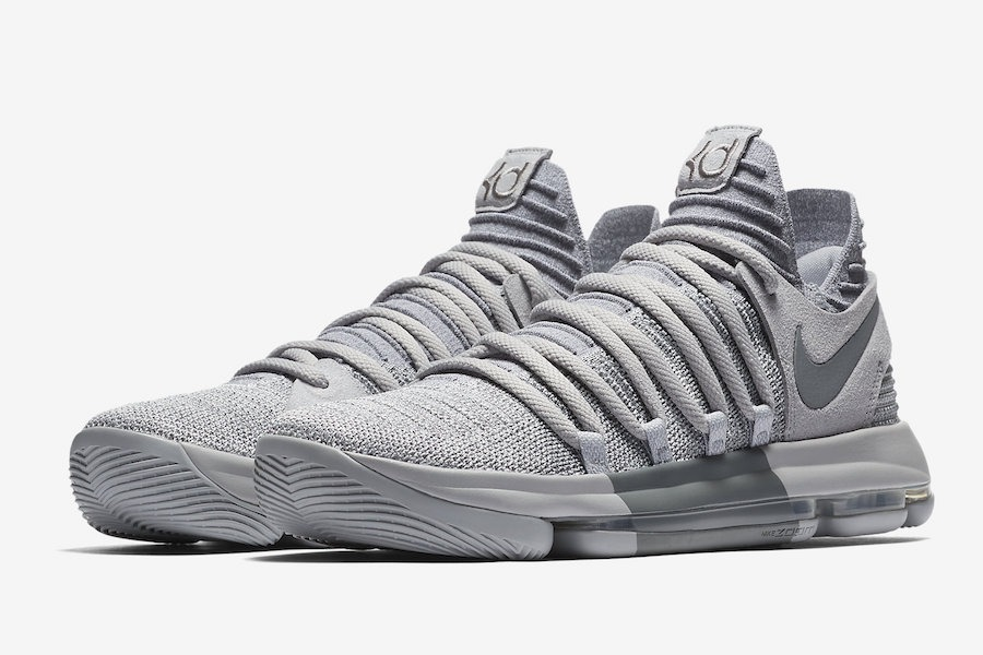 f88426e52403 Nike Zoom Kd 10 Wolf Grey Basketball Kevin Durant Shoes -   5.299