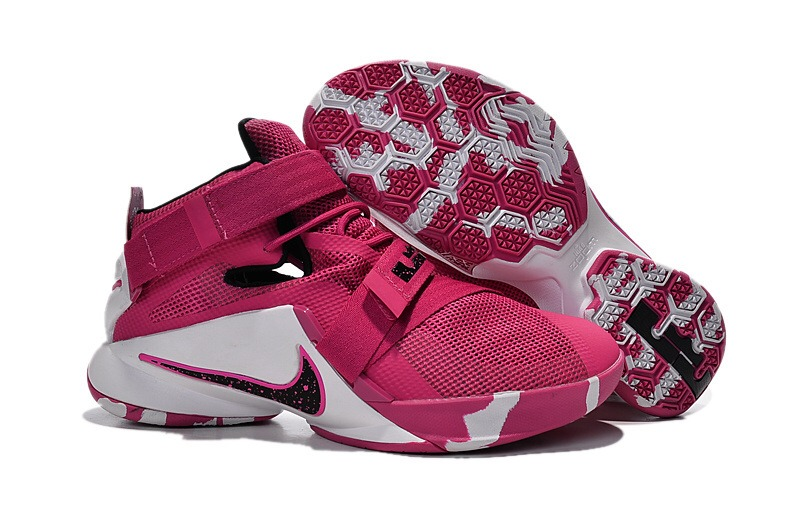 reputable site 46491 04f18 Nike Zoom Lebron Soldier 9 Think Pink Black And White