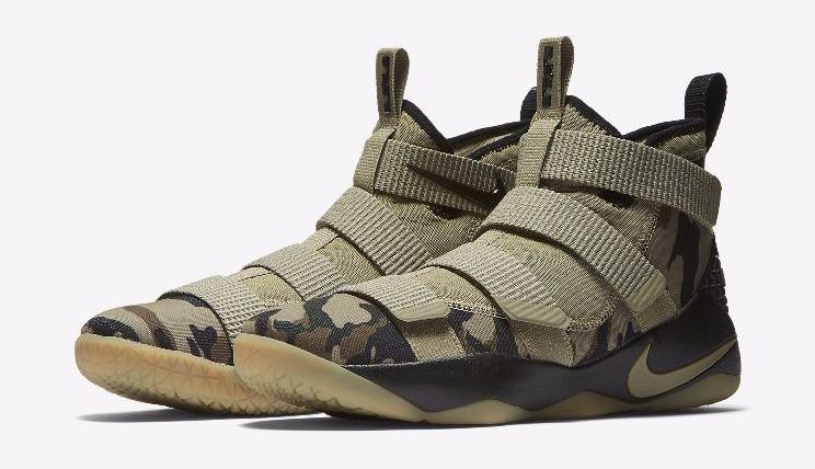 super popular 984d5 d11bb Nike Zoom Lebron Soldier Xi Elite Camo Lebron James