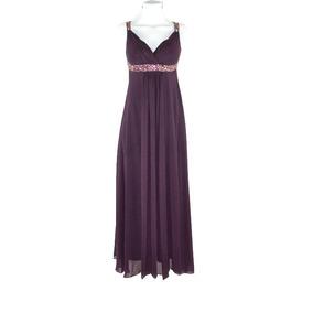 Vestido Morado Strapless Vestidos De Mujer Largo Violeta