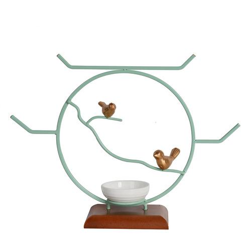 nikky casa pájaro joyería soporte decorativo mesa redonda