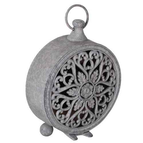 nikky casa vintage estaño cuarzo redondo reloj de mesa ma