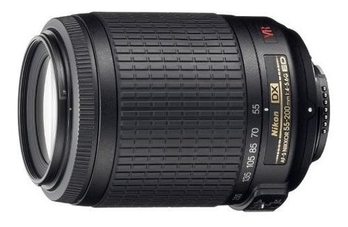 nikon 55-200mm f/4-5.6g ed if auto foco-s dx vr [reducción