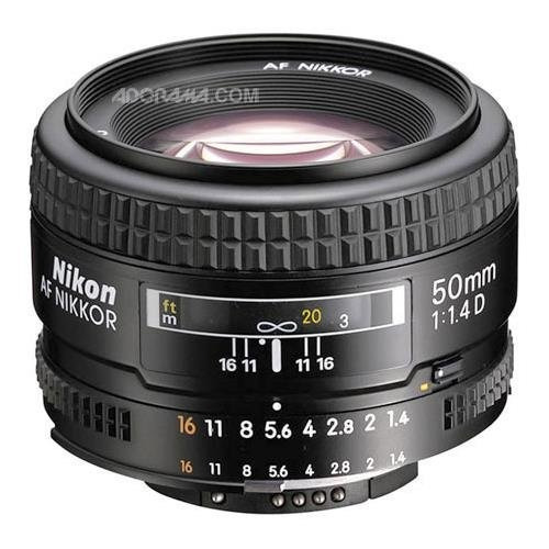 nikon af fx nikkor 50 mm f / 1.4d lente dslr con enfoque aut