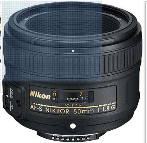 nikon af-s fx nikkor 50mm f/1.8g lente con auto enfoque