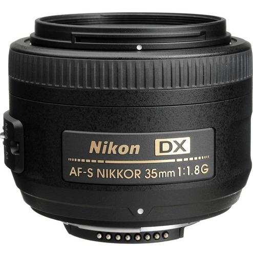 nikon af-s nikkor 35mm f/1.8g dx+ filtro uv. en stock boleta