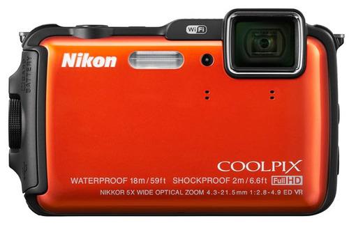 nikon aw120 16mp, a prova d'agua, gps, wi-fi, card 32gb, 10