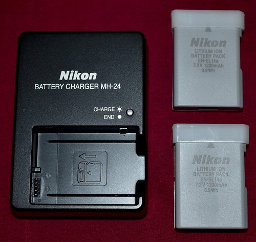 nikon baterias cargador